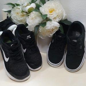Nike and Vans